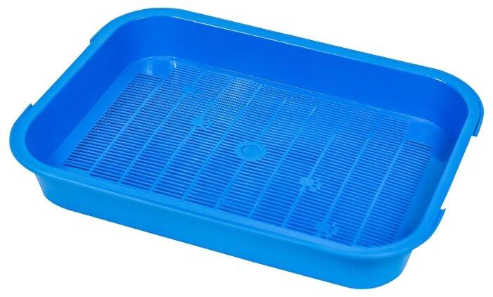 Туалет-лоток для кошек Киспис M 10941 38х29х6 см синий