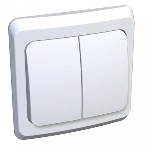 Выключатель 2х1-полюсный Schneider Electric BC10-006B,10А, белый выключатель 2х1 полюсный schneider electric sedna sdn0300321 10а белый