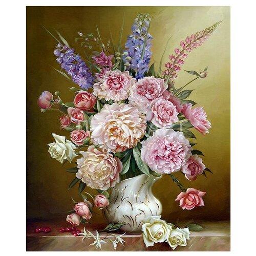 Купить Molly Картина по номерам Свежий букет 40х50 см (KH0280), Картины по номерам и контурам