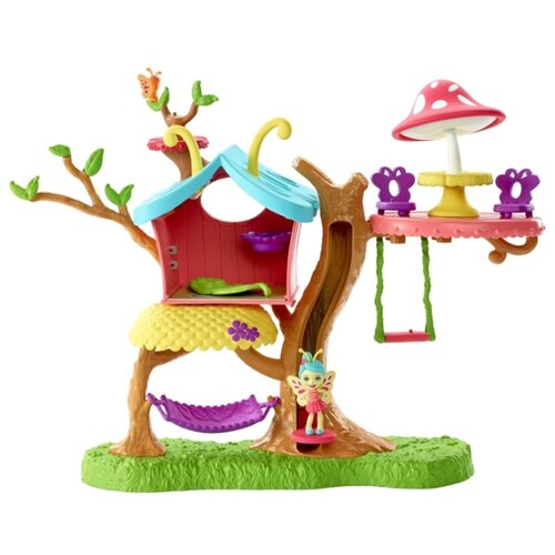 Купить Enchantimals Клубный дом GBX08, коричневый/зеленый/розовый, Кукольные домики