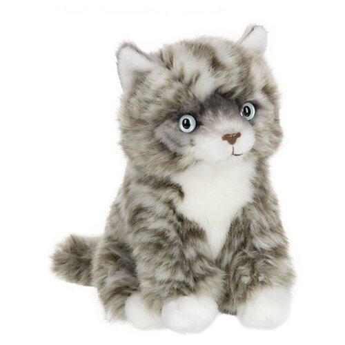 Купить Мягкая игрушка Anna Club Plush Котёнок Табби короткошерстный серебряный сидящий 15 см, Мягкие игрушки