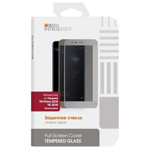Защитное стекло INTERSTEP Full Screen Cover для Huawei Y6 2018 белый защитное стекло interstep full screen cover 0 3мм sams a7 2017 a720 black