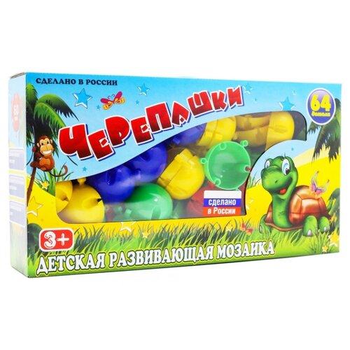 Новокузнецкий завод пластмасс Мозаика Черепашки 64 детали