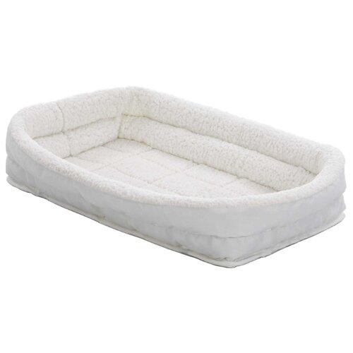 Лежак для собак и кошек Midwest QuietTime Deluxe Fleece Double Bolster 58х45х10 см белый