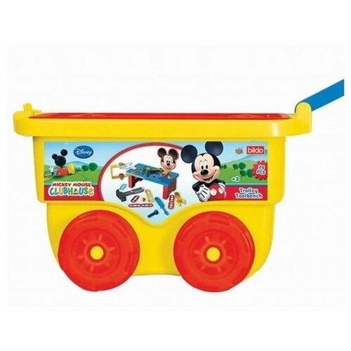 Bildo Набор инструментов с тележкой Микки Маус (B 8403), Детские наборы инструментов  - купить со скидкой
