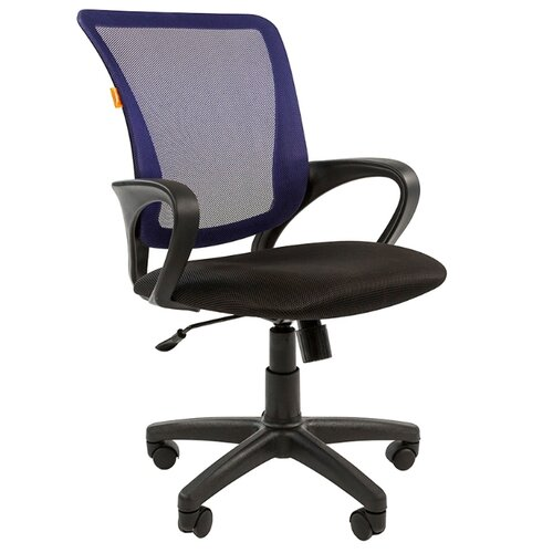Компьютерное кресло Chairman 969, обивка: текстиль, цвет: черный/синийКомпьютерные кресла<br>