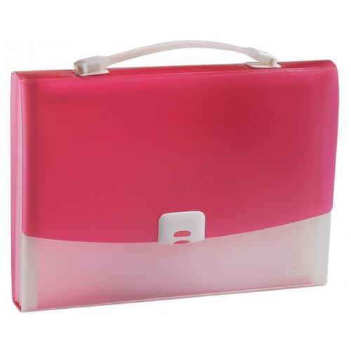 Panta Plast Папка-портфель FOCUS А4, 13 отделений розовый папка портфель без отделений а4 серебряная с черным клапаном