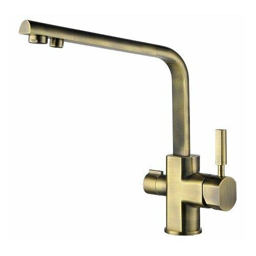 Смеситель для кухни (мойки) KAISER Decor 40144 bronze двухрычажный смеситель для кухни с подключением к фильтру kaiser decor 40144 5