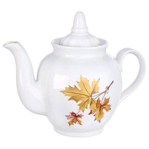 Дулёвский фарфор Заварочный чайник Гранатовый 900 мл кленЗаварочные чайники<br>