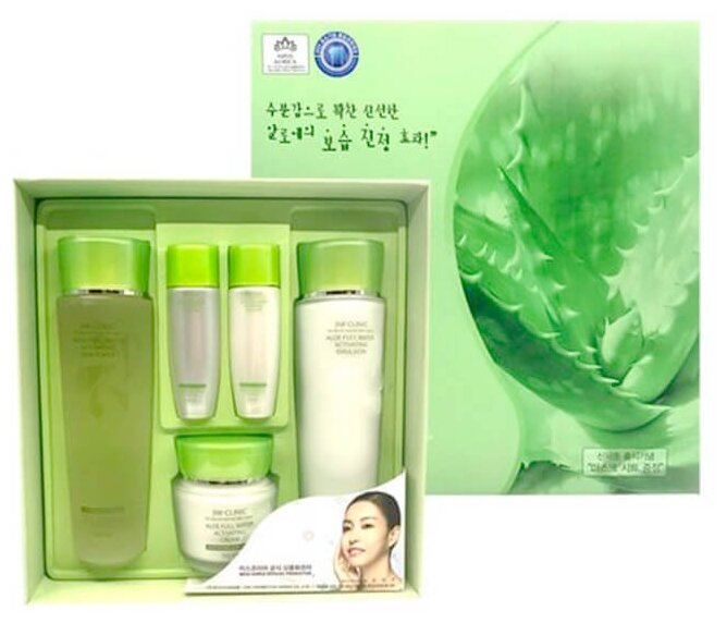 Набор 3W Clinic Aloe full water activating