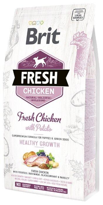 Корм для щенков Brit Fresh курица с картофелем
