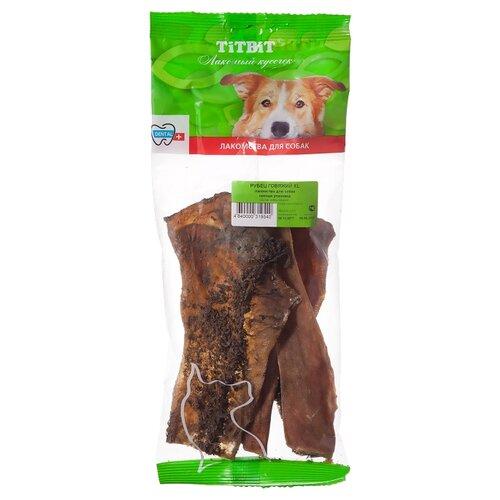 Лакомство для собак Titbit Рубец говяжий XL, 66 г titbit titbit консервы для собак elite pro баранина 100 г