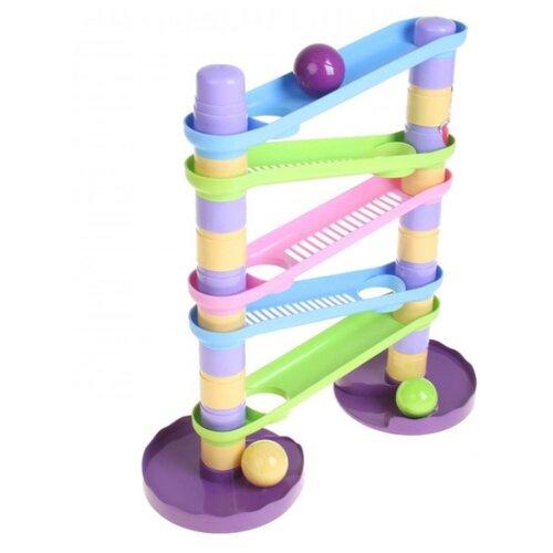 Купить Развивающая игрушка Биплант Зайкина горка Аттракцион №2 фиолетовый/розовый/голубой/зеленый/желтый, Развитие мелкой моторики