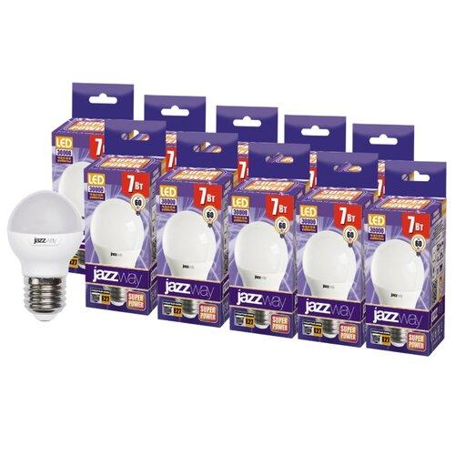 Упаковка светодиодных ламп 10 шт jazzway E27, 7ВтЛампочки<br>
