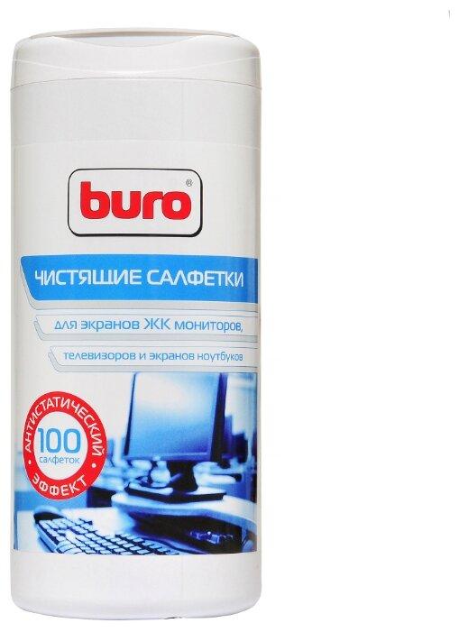 Чистящие средства buro bu-tscreen 817439 туба с чистящими салфетками, для экранов и оптики, 100шт.