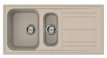 Врезная кухонная мойка smeg LZ102 100х50см искусственный гранит