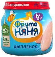 Пюре ФрутоНяня из мяса цыплят (с 6 месяцев) 80 г, 1 шт