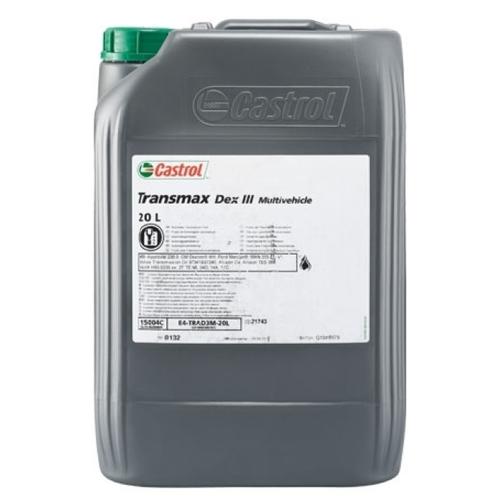 Трансмиссионное масло Castrol Transmax Dex III Multivehicle 20 л трансмиссионное масло castrol atf multivehicle 20 л
