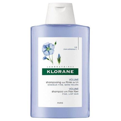 Klorane шампунь Volume with Flax fiber 200 мл где купить шампунь klorane