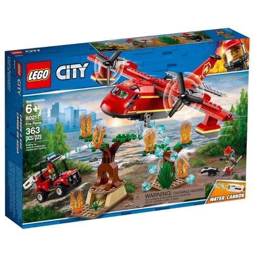 Конструктор LEGO City 60217 Пожарный самолёт конструктор lego city 60248 пожарный спасательный вертолёт