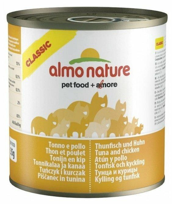 Корм для собак Almo Nature Classic тунец, курица 290г