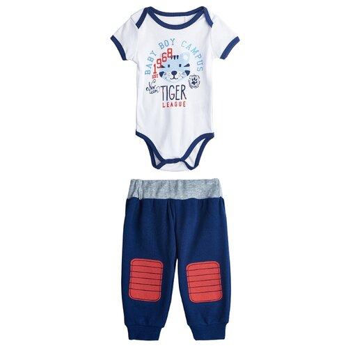 Комплект одежды kari размер 6-9, белый/синийКомплекты<br>