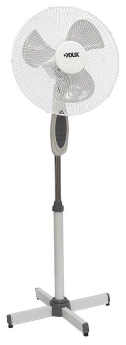 Вентилятор напольный с пультом и таймером DUX DX-18, 40 Вт, 220V, бело-серый, 1шт.