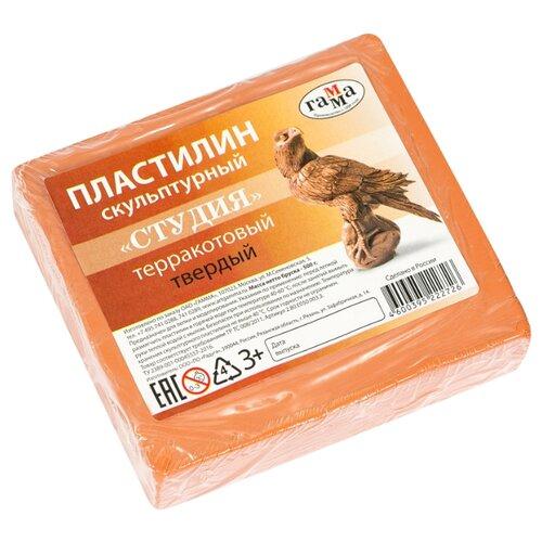 Купить Пластилин ГАММА Студия твердый терракотовый 500 г (2.80.Е050.003.3), Пластилин и масса для лепки