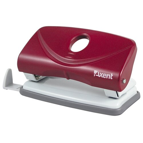 Дырокол Axent Welle-2 3810-A 10 листов, красный