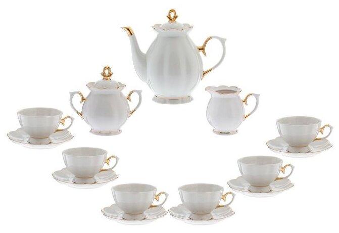Чайный сервиз Добрушский фарфоровый завод Елена (Классик) 15 предметов