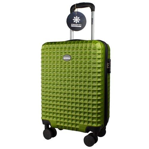 Чемодан PROFFI Tour Quattro Smart S 36 л, оливковый чемодан proffi business lady m 63 л розовый