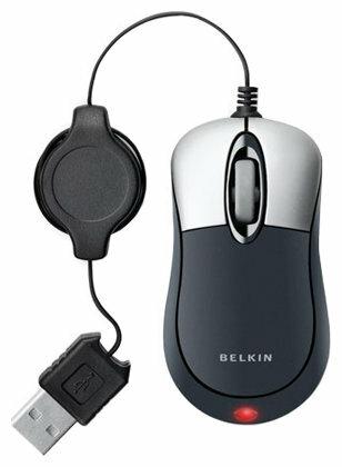 Мышь Belkin Mouse Mini Travel Mouse F5L016-USB Silver-Black USB