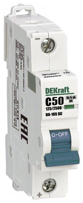 Автоматический выключатель DEKraft ВА-105 1P (C) 10kA 250В DC