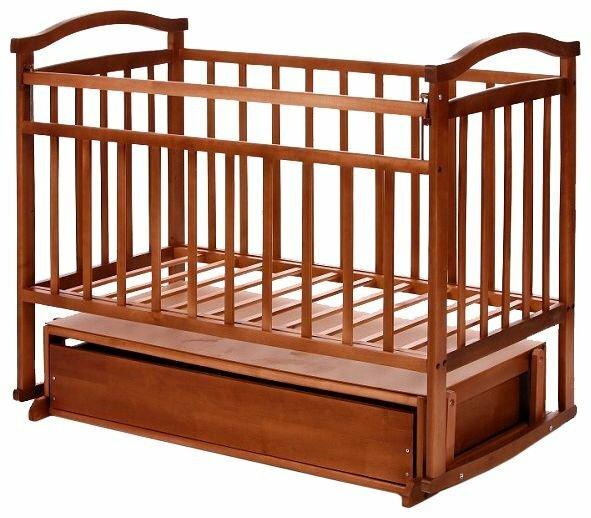 Кроватка Антел Ульяна-5 (качалка, маятник поперечный + ящик)