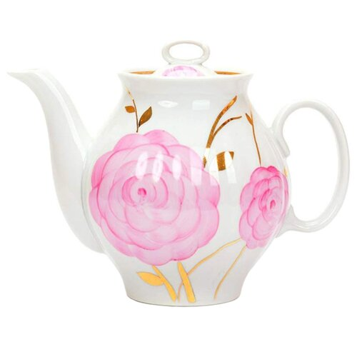 Дулёвский фарфор Заварочный чайник Белый лебедь 1 л весеннийЗаварочные чайники<br>