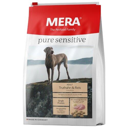Корм для собак Mera (12.5 кг) Pure Sensitive с индейкой и рисом для взрослых собак корм для собак mera 1 кг pure sensitive junior с индейкой и рисом для щенков