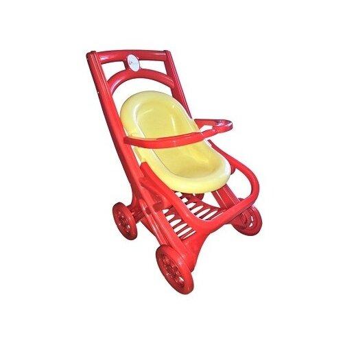 Купить Прогулочная коляска Doloni С шезлонгом (0122) красный/бежевый, Коляски для кукол