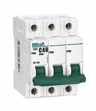 Автоматический выключатель DEKraft ВА-103 3P (B) 6kA