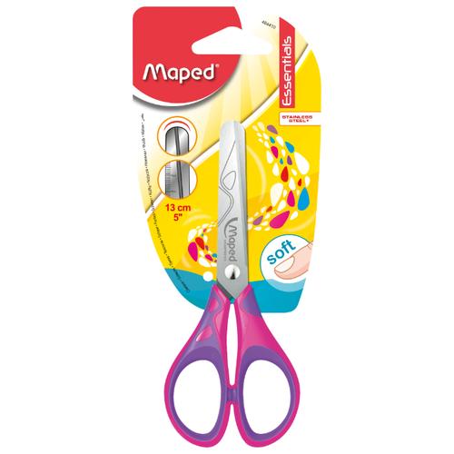 Купить Maped ножницы детские Essentials Soft 13см розовый/фиолетовый, Ножницы