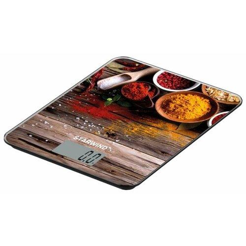 Кухонные весы STARWIND SSK3354/3355/3358/3359 коричневый/желтый/красный/голубой весы кухонные starwind ssk2259 желтый