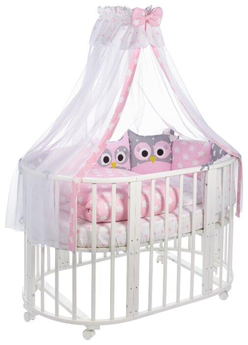 Комплект в овальную кроватку Sweet Baby Uccellino Giallo (Желтый), 10 предметов