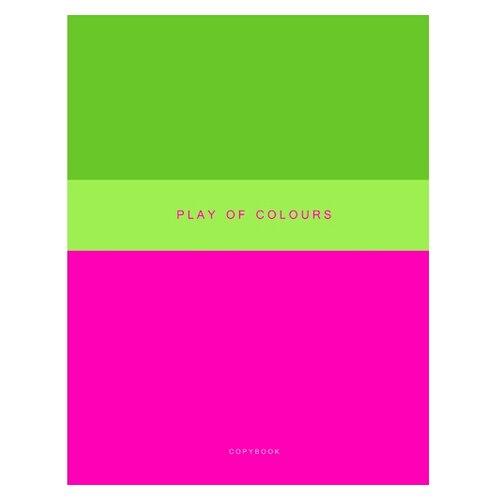 Купить Канц-Эксмо Тетрадь Неоновый дуэт в клетку, 48 л., розовый/зеленый, Тетради