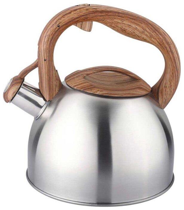 Купить Appetite Чайник со свистком LKD-4125BR 2,5 л, серебристый/коричневый по низкой цене с доставкой из Яндекс.Маркета (бывший Беру)