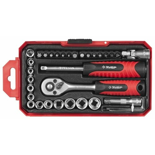 Набор автомобильных инструментов ЗУБР (27 предм.) 27642-H35 черный набор автомобильных инструментов зубр 53 предм 27640 h53 серебристый черный