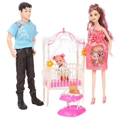 Купить Набор кукол Shantou Gepai Belle Счастливая семья JX600-97, Куклы и пупсы