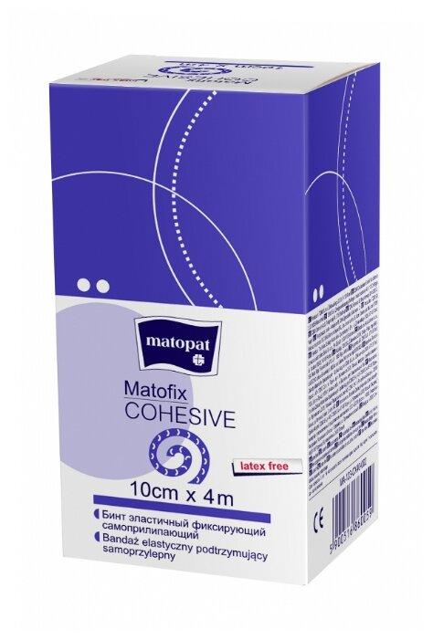Бинт TZMO S.A. Matofix COHESIVE, эластичный, когезивный (растяжимость min 100%) 8 см х 4 м, 1 шт./уп.