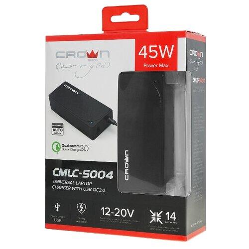 Блок питания для ноутбука CROWN MICRO CMLC-5004, универсальный блок питания для ноутбука storm blu120 универсальный 19в 2 1а 7 адаптеров черный