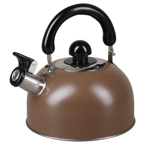 Pomi d'Oro Чайник со свистком PSS-650013 3 л, коричневый кастрюля pomi d oro facilita pss 595252 2 5 л стальной