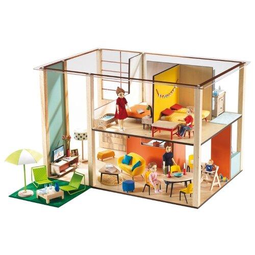 DJECO Дом-кубик для кукол 07801 дом для кукол мой дом алина 4108