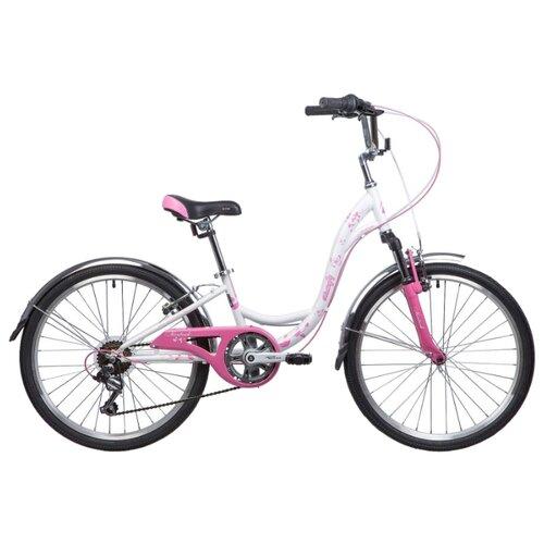 """Подростковый городской велосипед Novatrack Butterfly 24 (2019) розовый 11"""" (требует финальной сборки)"""